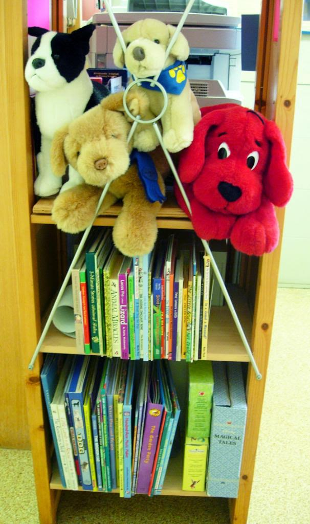 Some kids like to hug Clifford and his friends!